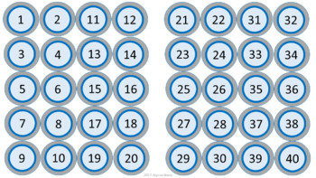 Class Numbers - Turquoise & Gray