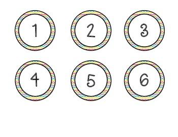Class Numbers or Calendar Numbers - FREEBIE