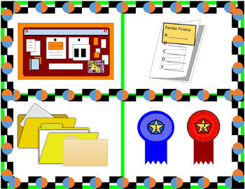 Class Object Images Task Cards Bundle - Sets 1 to 4