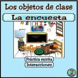 Class Object Survey Activity - Encuesta de objetos. ¿Qué hay en tu mochila?