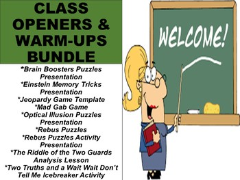 Class Openers and Warm-Up Activities BUNDLE