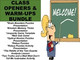 Class Openers and Warm-Up Activities BUNDLE