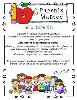 Class Parent Wanted
