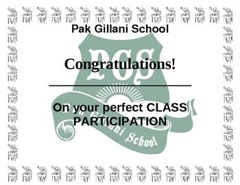 Class Participation Award
