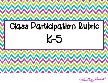 Class Participation Rubric K-5
