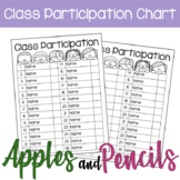 Class Participation Tracking Chart