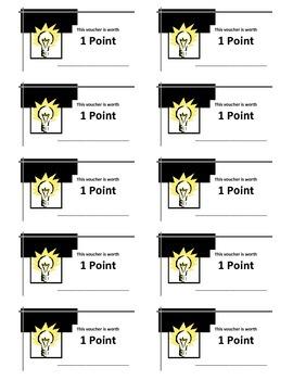 Class Participation Vouchers - 1 point