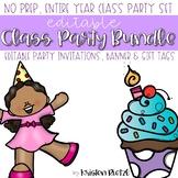 Editable Class Party Bundle Set