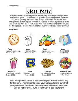 Class Party Project (Fair Share)