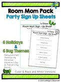 Class Party Sign Up Sheet for Room Moms