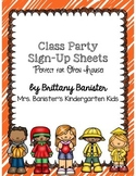 Class Party Sign-Up Sheets (Perfect for Open House!)