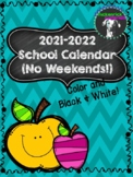 FREE 2019-2020 Printable Calendar in Color and Black & White