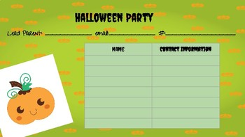 Class Party Sign-ups