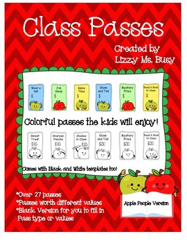 Class Passes- Apple People