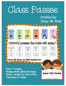 Class Passes- Super Kid
