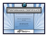 Music Performance Certificate {FREE}