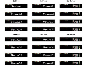Class Period Labels - Target Adhesive Labels