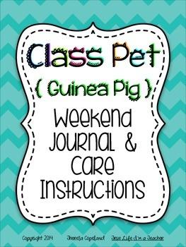 Class Pet Journal & Care Notebook {Guinea Pig}