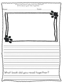 Class Pet Journal Page by Journey Through Elementary | TpT