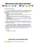 Class Pet Letter & Permission Slip *Editable*