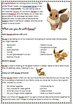 Class Pet/Mascot Journal Title Page/Instructions
