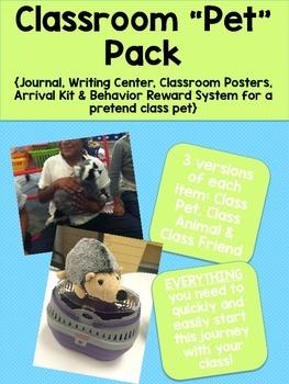"""Class """"Pet"""" Pack {Journal, Writing Center, Behavior System"""