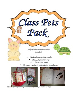 Class Pet Permission Slips and Caresheets