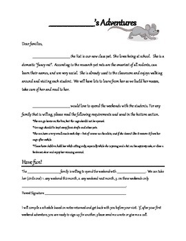 Class Pet Rat Note