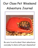 Class Pet Weekend Journal