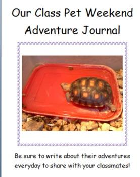 Class Pet Weekend Journal