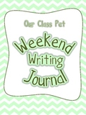 Class Pet Weekend Writing Journal