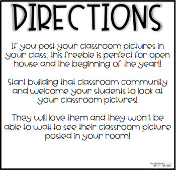 Class Picture Coming Soon Sign FREEBIE