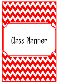 Class Planner (Yearly Binder)