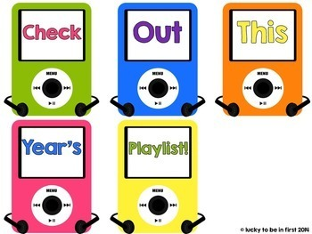 Class Playlists - Editable Back to School Display