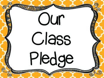 Class Pledge Posters