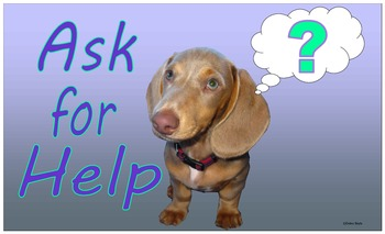 """Class Poster 2 """"Ask for Help"""""""