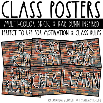 Class Poster | Rae Dunn Inspired with Multi-Color Brick