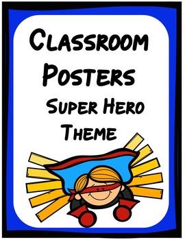 Class Posters - Super Hero Theme