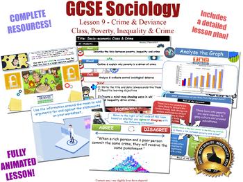 Class, Poverty & Crime - Crime & Deviance L9/20 (GCSE Sociology) KS4