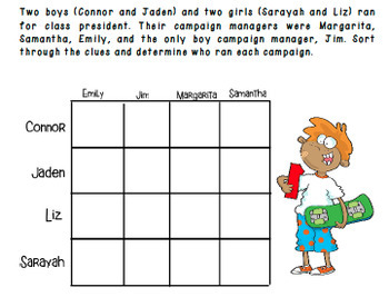 Logic Puzzle : Class President Logic for Gifted and Talented or Bright Students