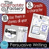 Persuasive Writing Project: Elect Me Class President! {Character Factory}
