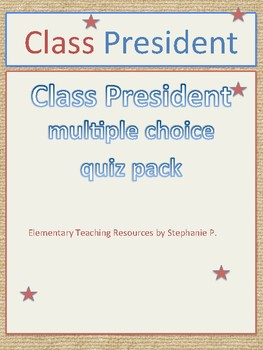 Class President multiple choice quiz pack