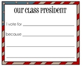 Class President Voting Cards