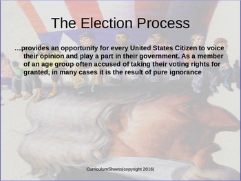 American Government Mock Presidential Campaign Student Project