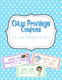 Class Privilege {Reward} Coupons