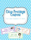 Class Privilege {Reward} Coupons