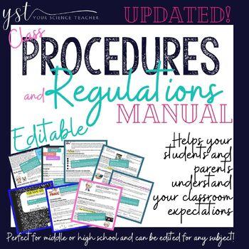 Fully Editable! Class Procedures & Regulations