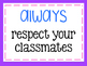 Class Promises, behavior expectations