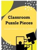 Class Puzzle Pieces - Community Building