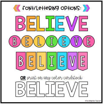 BELIEVE Class Quote Banner Bundle {Growth Mindset}